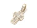 Dazzle Cross Pendant - S K10Yellow Gold w/Diamond