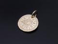 Hope Sun Coin Charm - K10Yellow Gold