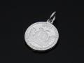 Medium Good Luck Coin Charm - Silver