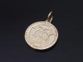 Medium Good Luck Coin Charm - K10Yellow Gold