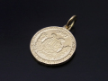 Medium Good Luck Coin Charm - K18Yellow Gold