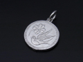 Medium Liberty Swallow Coin Charm - Silver