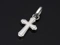 Smooth Cross Pendant - Silver