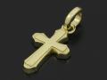 Smooth Cross Pendant M - K18Yellow Gold