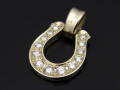 Horseshoe XL Pendant - K10Yellow Gold w/Diamond
