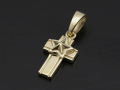 Star Cross Pendant - K10 Yellow Gold