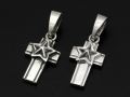 Star Cross Pendant - Silver