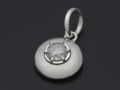 Ash Diamond Pendant - Silver