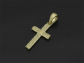 Ridge Cross Pendant - Small K18Yellow Gold w/Diamond