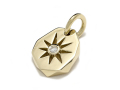 Sun Plate Pendant - K18Yellow Gold w/Diamond