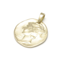 SYMPATHY OF SOUL Liberty Head Pendant - K18Yellow Gold