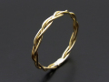 Woven Ring - S K10 Yellow Gold