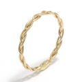 Woven Ring - S K10Yellow Gold