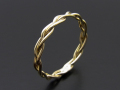 Woven Ring - L K10 Yellow Gold