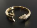 Arrow Ring - K18 Yellow Gold w/Diamond