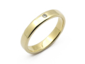 Wide Posy Ring - K10 Yellow Gold w/Diamond