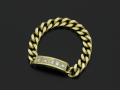 ID Chain Ring - K18Yellow Gold w/Diamond