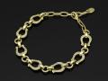 Horseshoe Amulet Link Bracelet - K18Yellow Gold w/Diamond
