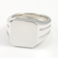 Large Signet Ring - Silver