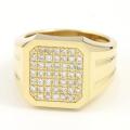 Large Signet Ring - K18Yellow Gold w/Diamond