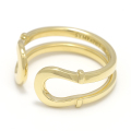 Double Horseshoe Ring - K18Yellow Gold