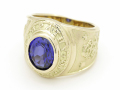 Progress Ring - K14Yellow Gold w/Blue Sapphire + Diamond