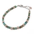 MOKUME Cube Beads Bracelet - Turquoise