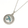Twisted Wire Eagle Inlay Disc Necklace