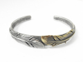 Old Feather Bangle - Silver×Brass