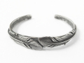 Old Feather Bangle - All Silver