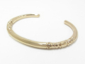 Cutting Bangle - K10 Yellow Gold