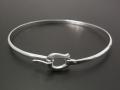 Horseshoe Band Bangle - Silver