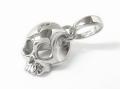 Liberty Skull Charm - Silver