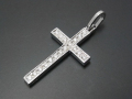 Ray Cross Pendant - Silver w/CZ