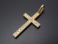 Ray Cross Pendant - K18Yellow Gold w/Diamond