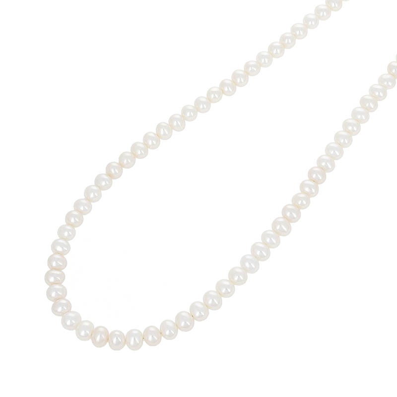 Pearl Beads T-Bar Necklace