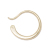 Gradation Hook Pierce - K10Yellow Gold
