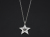 Marbles×SYMPATHY OF SOUL Collaboration Star Necklace - Silver w/CZ