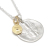 Liberty Head Necklace - Silver w/K18Yellow Gold Glory Charm