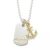 Anchor Pendant - K18Yellow Gold + Hallmark Dog Tag - Silver Set Necklace
