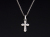 Smooth Cross Pendant - Silver w/CZ