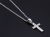 Gravity Cross Pendant - Silver w/Clear CZGravity Cross Pendant - Silver w/Clear CZ