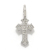 Little Cross Charm - K18White Gold w/Diamond
