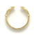 Double Horseshoe Inlay Ring - K18Yellow Gold