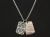 MOKUME & Carved Dog Tag Necklace