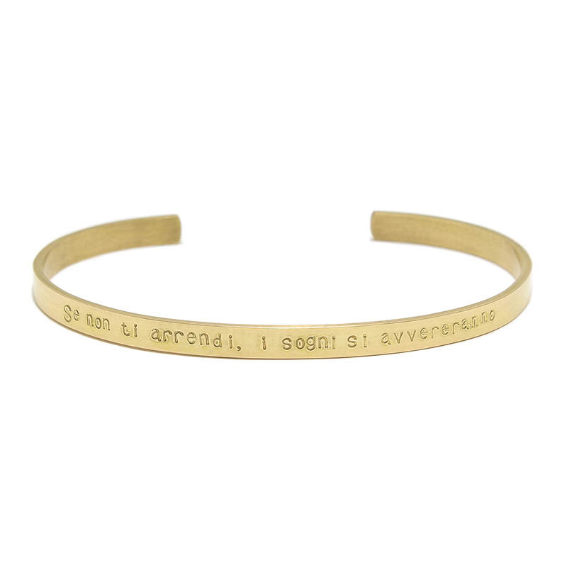"YOSHIMASA HOSHIBA × SYMPATHY OF SOUL Collaboration Bangle ""Parole d'amore"" - K18Yellow Gold"