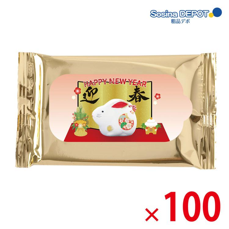 【送料無料(北海道・沖縄除く)】干支ゴールドウェットティッシュ10P 100個セット <dh-25450>