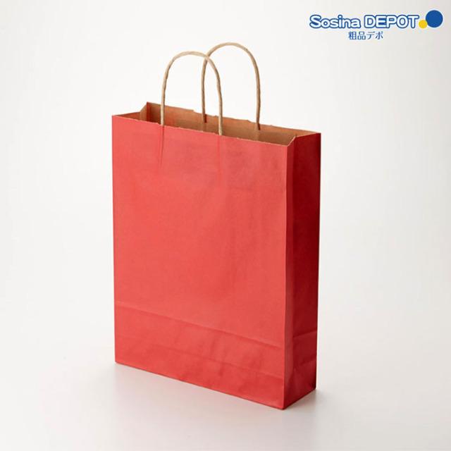 紙袋カラー赤無地SS <fu-10002>