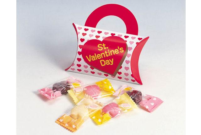 粗品・景品・ノベルティの粗品屋本舗 バレンタインハートチョコ5粒入 バレンタイン