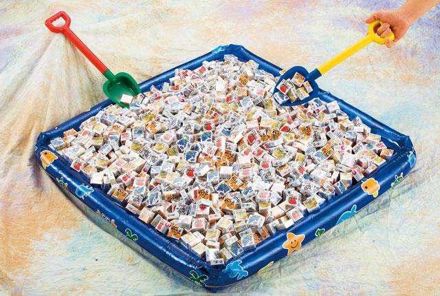 粗品・景品・ノベルティの粗品屋本舗 フーセンガムいろいろすくいどり約100人用